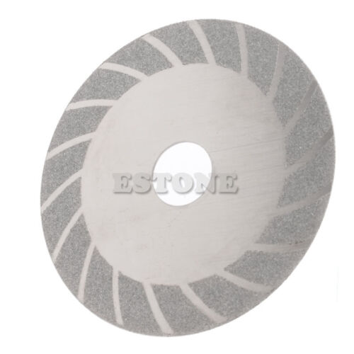 "100mm 4/"" Diamond Coated Cutting Disc Flat Wheel Blade Grinding Glass Stone Tiles"