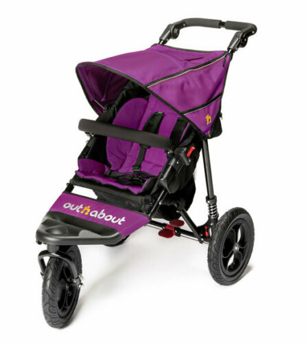 Brand new in box Out n About nipper single 360 V4 pushchair purple punch /& pvc