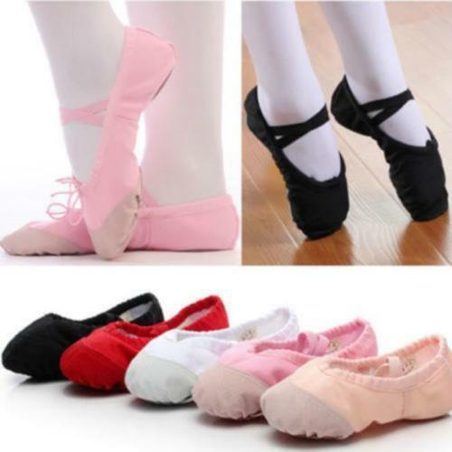 Details about  /Casual Ballet Shoes Kids//Adults Satin Hot Sale New Children Dance Slippers CO