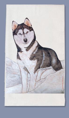 Siberian Husky Dish Towel