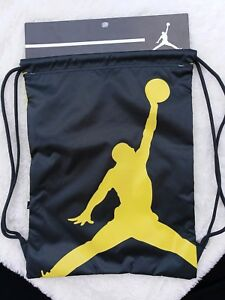 e2c6d3cdcd4908 Nike Air Jordan Jumpman Drawstring Gym Sack Bag Backpack Black ...