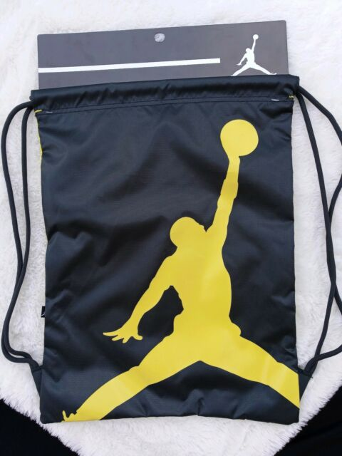 f8a4c91ad00c Frequently bought together. Nike Air Jordan Jumpman Drawstring Gym Sack Bag  Backpack Black ...
