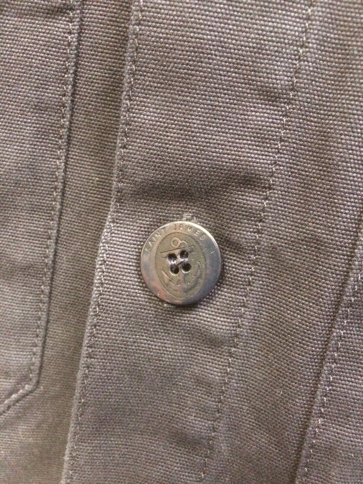 Canvas Jacket Navy Blue Sirocco 11 Made in France by Saint James Cotton Canvas