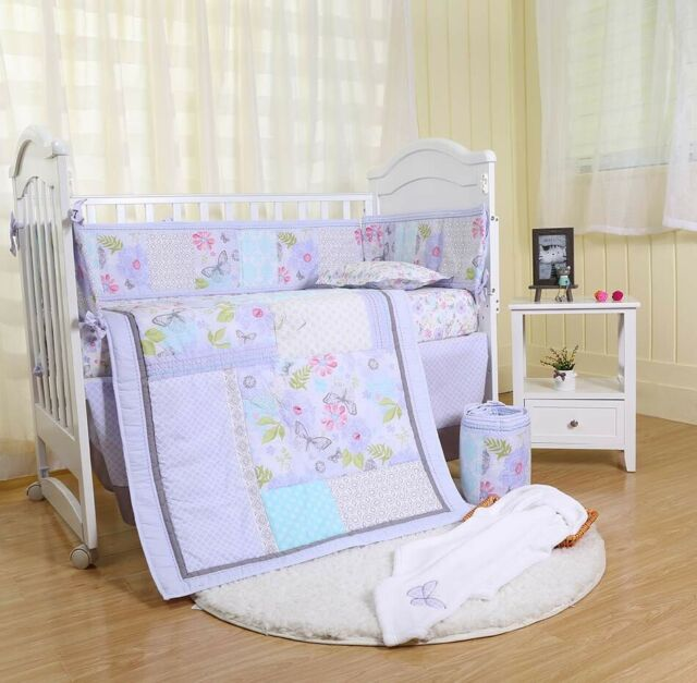 Purple Fl Baby Crib Nursery Bedding