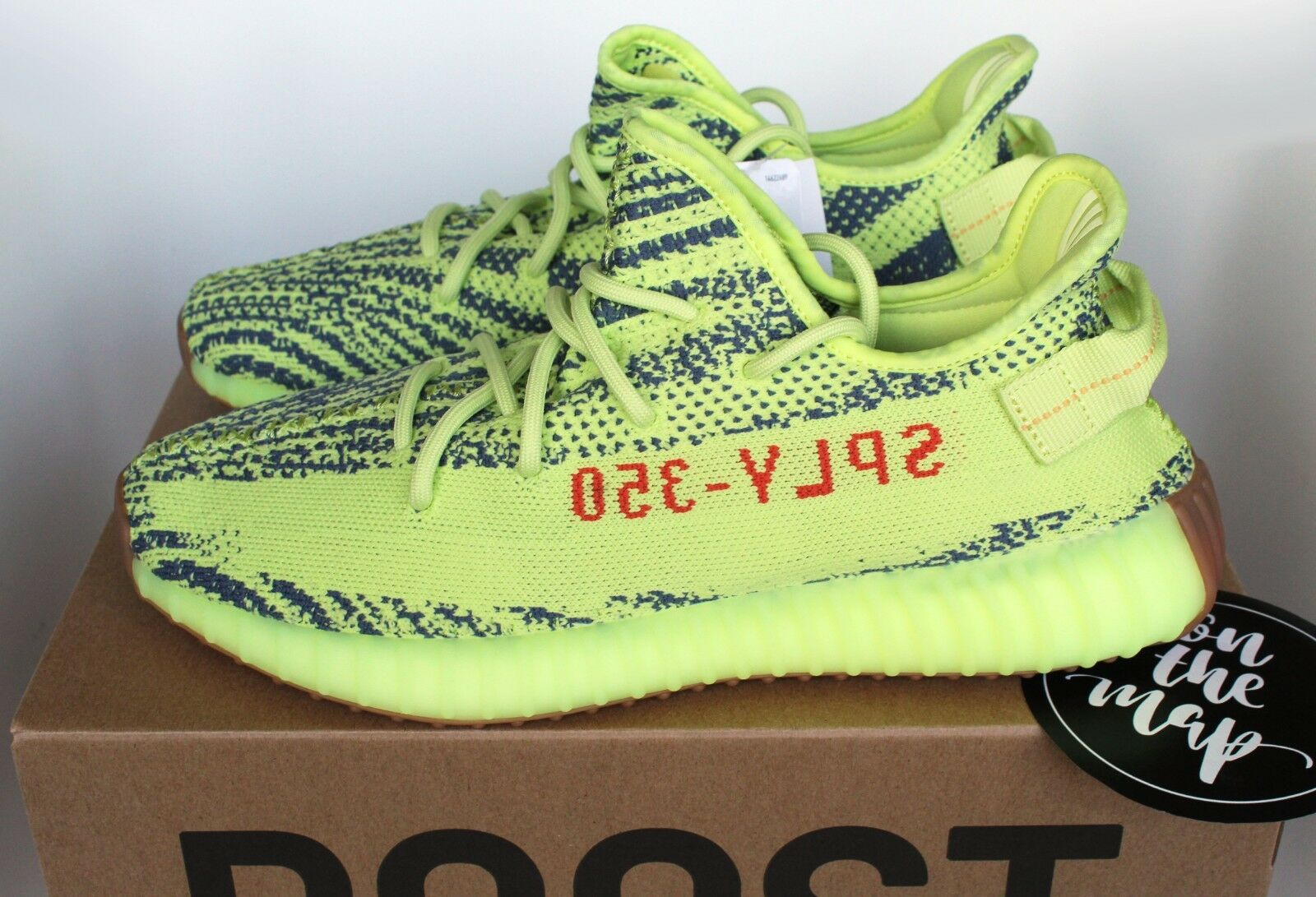 fa4c388d8be5e Adidas Yeezy Boost 350 V2 Semi Frozen Yellow Green Yebra US New. Adidas  UltraBoost ...
