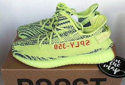 Adidas Yeezy Boost 350 V2 Semi Frozen Yellow Green Yebra UK 14 14.5 15 16 US New eBay  eBay