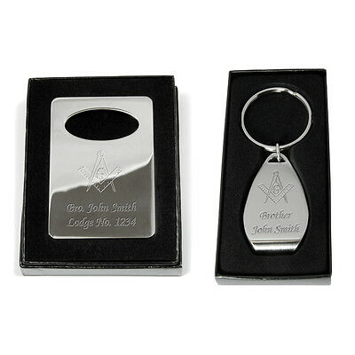 Masonic Freemasons Bottle Opener Personalised Engraved Keyring or Fridge Magnet