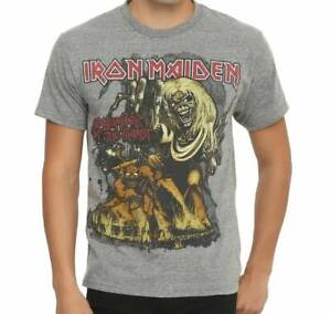 IRON-MAIDEN-T-Shirt-GRAY-Number-Of-The-Beast-New-Official-S-2XL