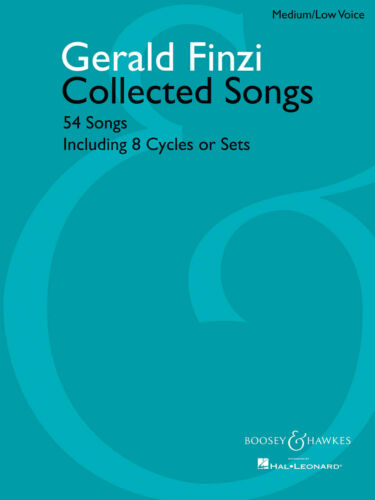Collected Songs54 Medium Gerald Finzi Classical Vocal and Piano MUSIC BOOK