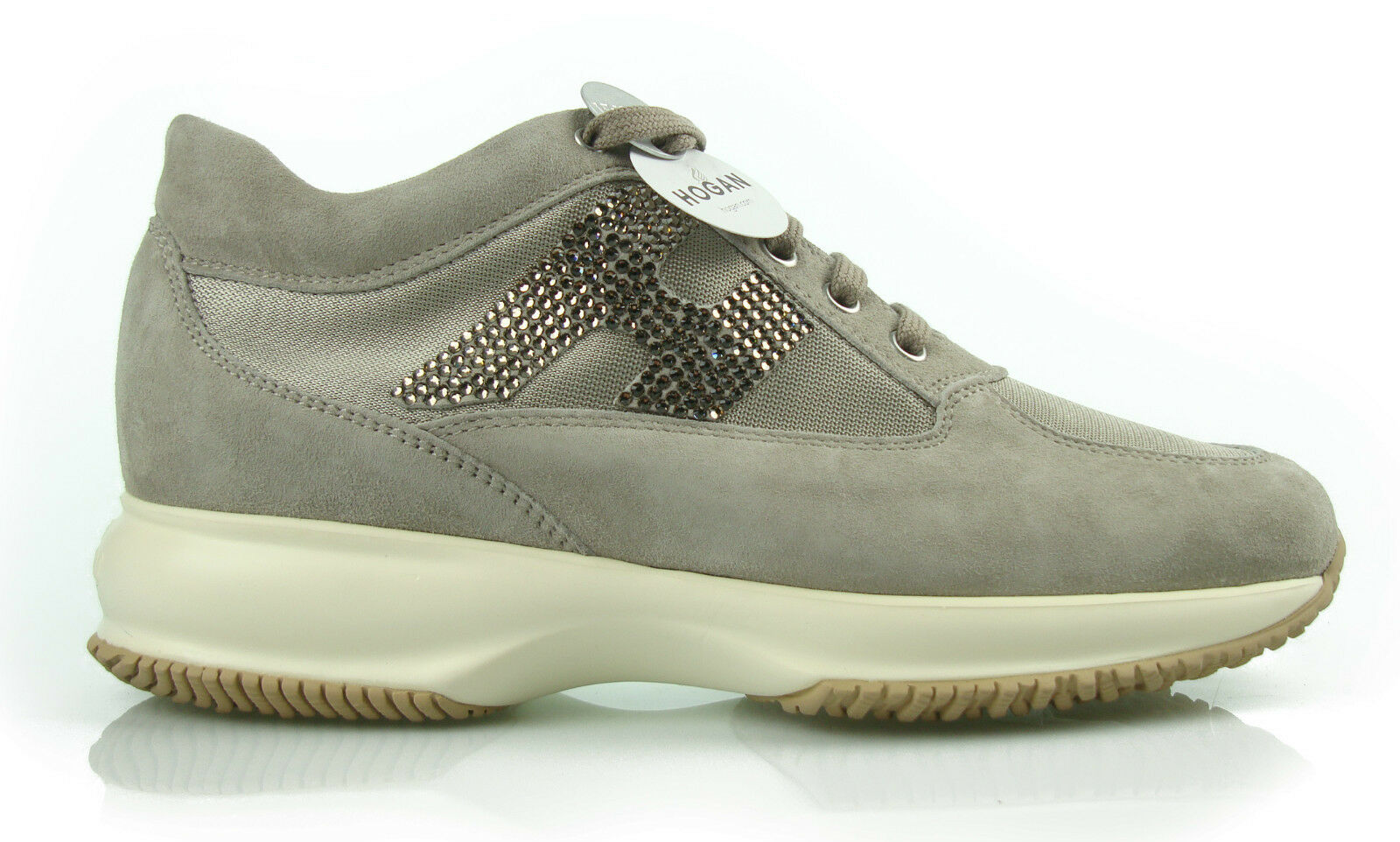H2 HOGAN INTERACTIF STRASS BEIGE Chaussures FEMMES 100%AUT