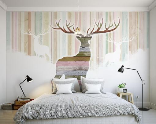 3D Christmas Deer 755 Wall Paper Murals Wall Print Wall Wallpaper Mural AU Kyra