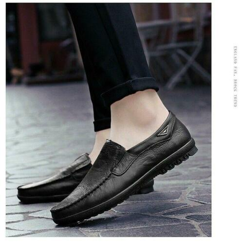 Men Driving Casual Boat Fashion Leather Shoes Moccasin Slip On Loafers soft shoe