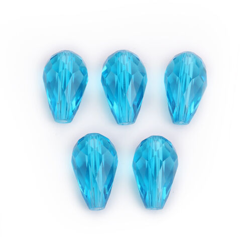 Glass Loose Faceted 20pcs Crystal 18x12mm Beads Teardrop Wholesale Spacer