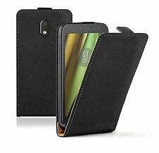 SLIM BLACK Mobile Phone Cover Pouch Case For Motorola Moto E 2016 3rd Generation
