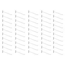 50 Pc 12 Gloss White Long Grid Wall Metal Hooks Display Gridwall Panels