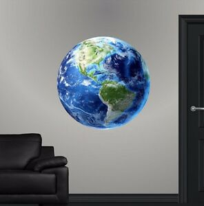 Details about Planet Earth HD Wall Decal Blue Marble Nova Wall Sticker  Educational Graphic
