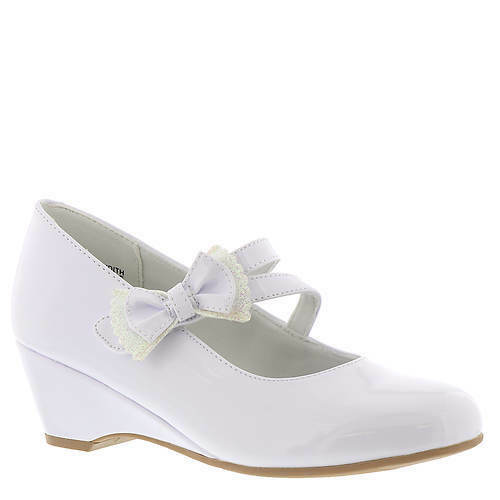 GIRLS WHITE PATENT DRESS SHOES COMUNION SHOES W//BOW SIZE TODLR 6-12  13-4 YOUTH