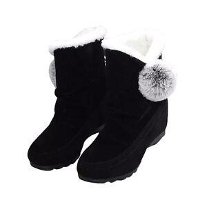 Hot Women Snow Ankle Boots Winter Faux Fox Fur Tassel Comfortable Suede Shoes