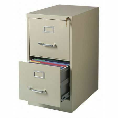 Hirsh 25 Inch Deep 2 Drawer Letter Size