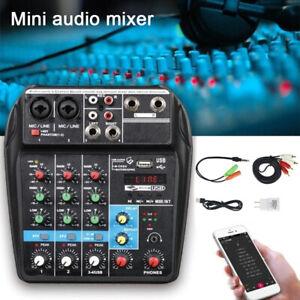 USB-Audio-Mixer-Amplifier-Amp-Bluetooth-Board-48V-4-Channels-for-DJ-Karaoke-UK