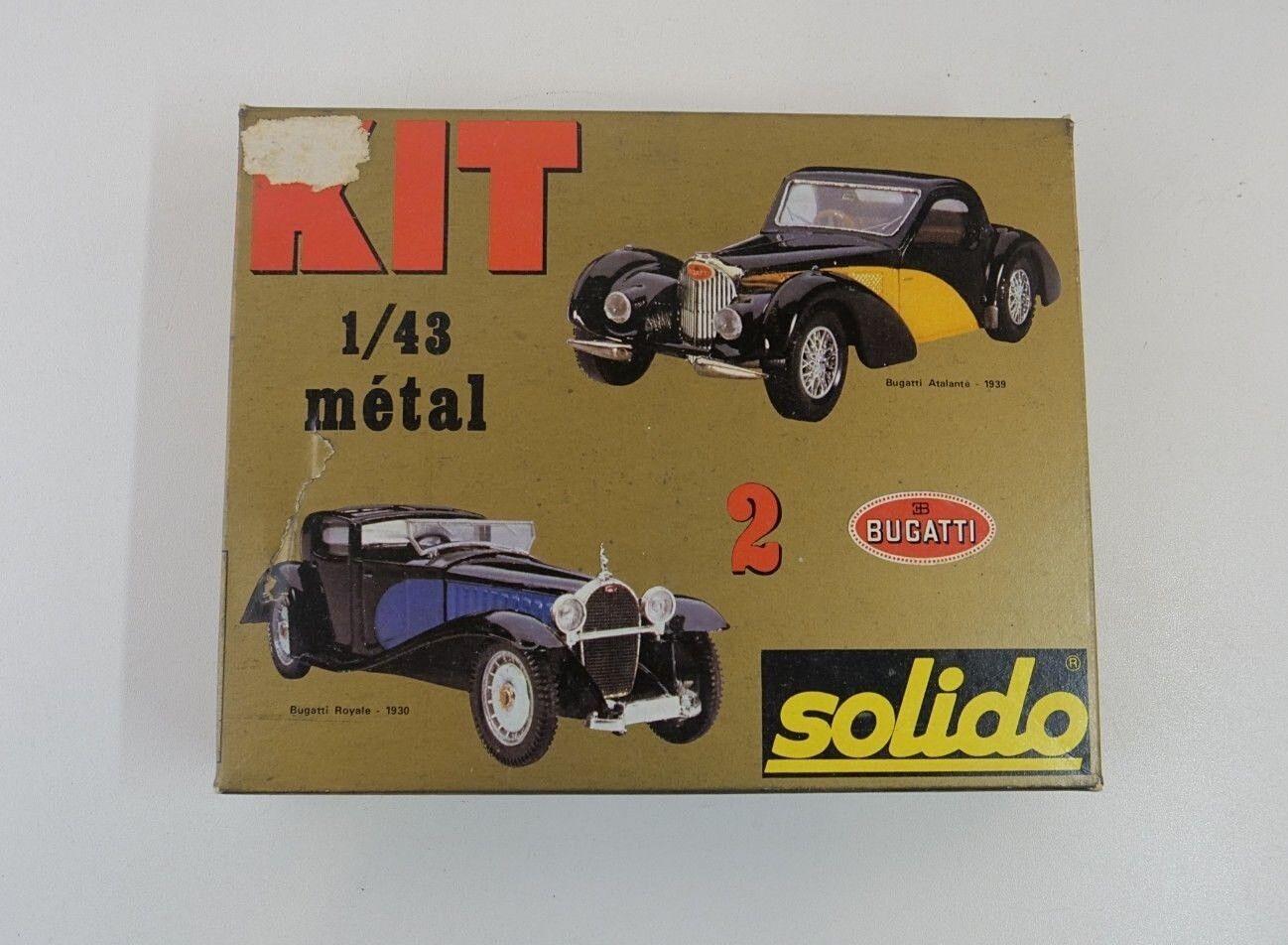 venta Solido Kit in Metallo ref.5401 Due Due Due Bugatti Royale Atalante C 1 43 Mint Scatola    nueva gama alta exclusiva