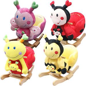 baby rocker rocking chair toy toddler animal soft cuddly musical