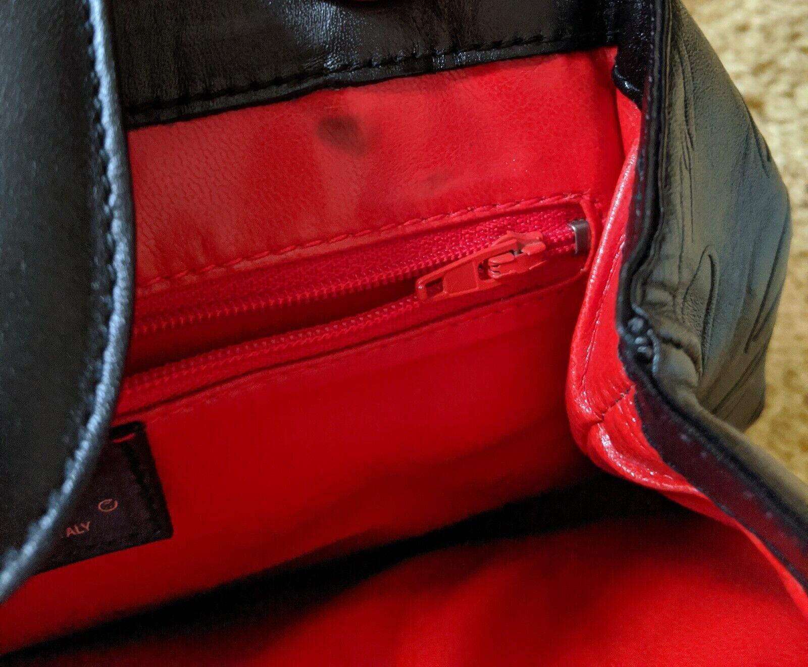 Vintage Arnold Scaasi Purse Italian Leather Black… - image 4