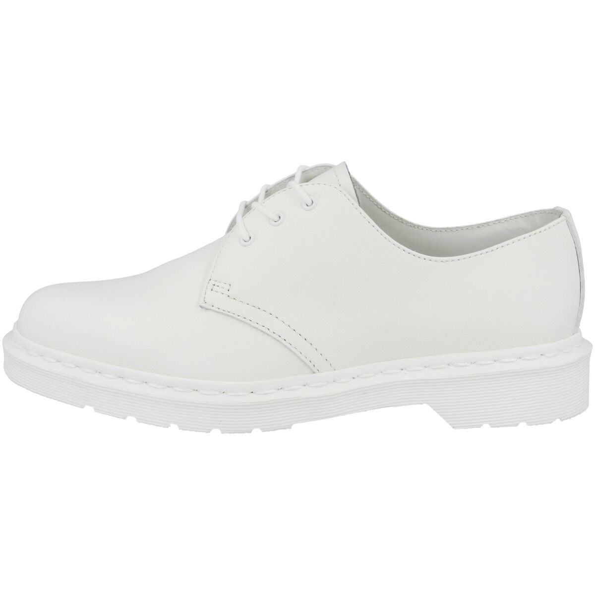 Dr Doc Martens 1461 Mono Cuir Unisexe Chaussures bottes 3 trous blanc Smooth 14346100