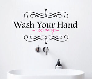 Home Quotes | Wash Your Hand Use Soap Wall Sticker Home Quotes Inspirational Love