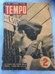 TEMPO-EDITION-ITALIENNE-N-165-ROMA-23-JUILLET-1942-ORIGINALE-RUSSIE