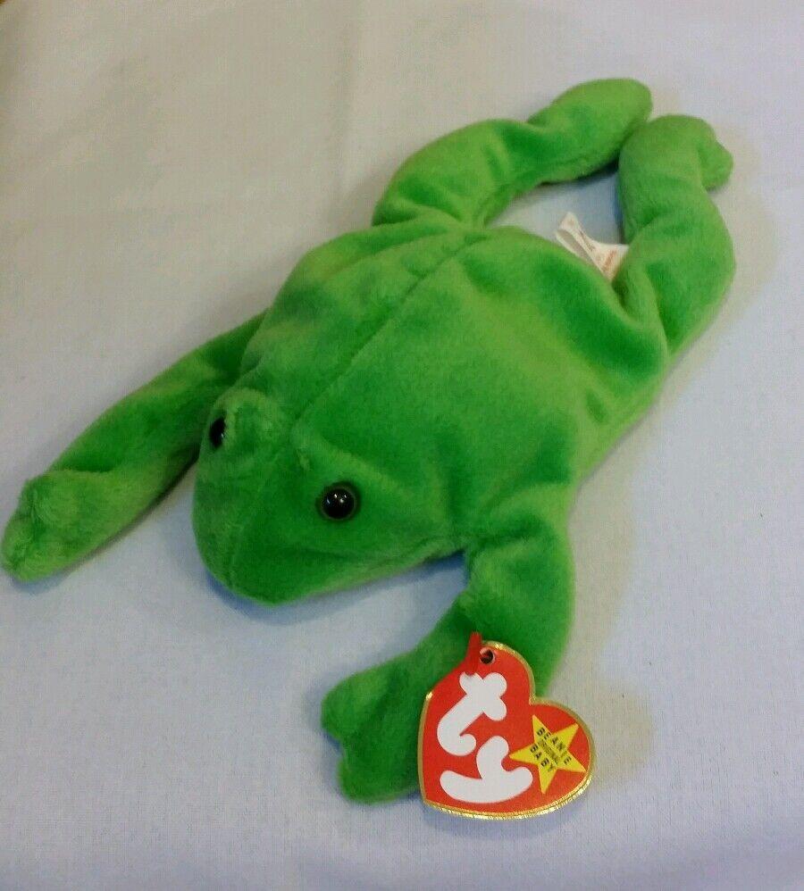 Ty beanie baby beine der frosch - stil   40201993 pvc, w   4 fehler original 9, mwmt