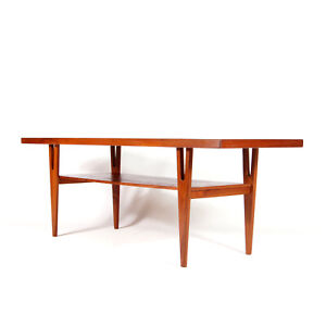 Retro Vintage Danish Teak Large Coffee Table 60s 70s TV Stand Bench Mid Century