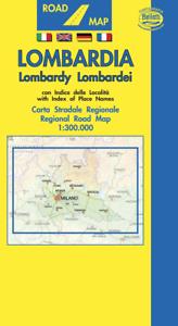 Cartina Autostradale Della Lombardia.Lombardia Cartina Stradale Regionale 1 300 000 Carta Mappa Belletti Srl Ebay