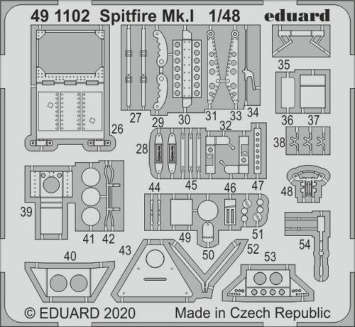 Eduard 1//48 Supermarine Spitfire Mk.I Detailing Set # 491102