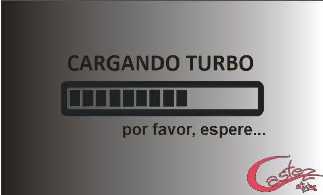 PEGATINA STICKER CARGANDO TURBO BOOST CHARGING autocollant  COLOR A ELEGIR