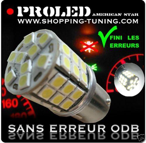 2 AMPOULE 45 LED BLANC WHITE  SMD P21W BA15S ANTI ERREUR ODB GENERATION 1