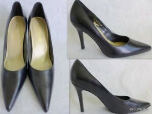92a54b750d0e Image is loading COLIN-STUART-Black-Genuine-Leather-Pointed-toe-Pumps-