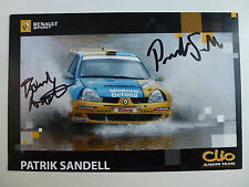 Patrick Sandell firmado Renault Clio Rally Equipo WRC OFFICIAL PHOTOCARD Junior
