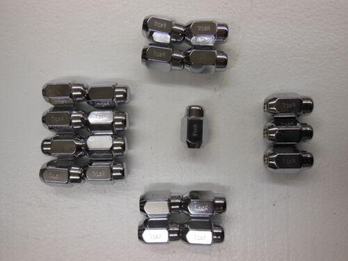 "Set of 20 NEW chrome Lug Nuts  1 3//8/"" long 7//16 R"