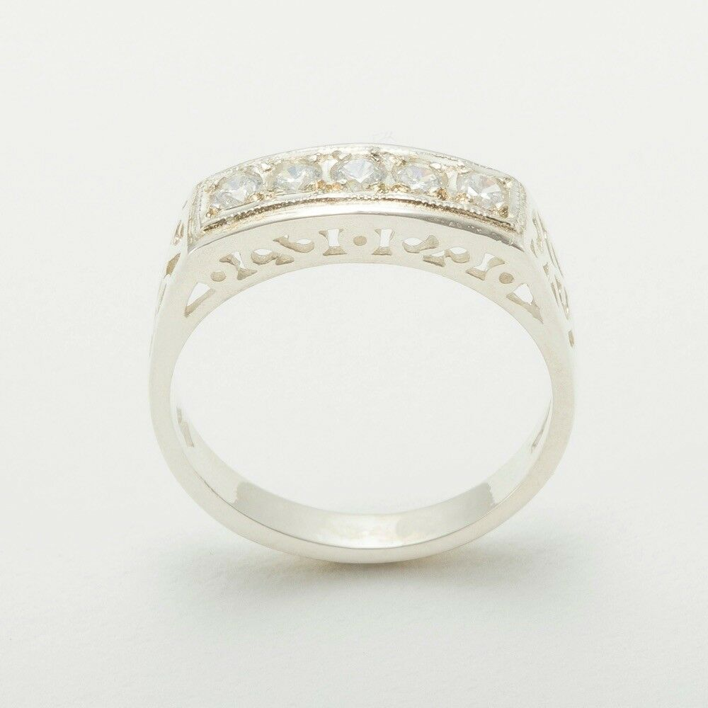 14k White gold Cubic Zirconia Womens Eternity Ring - Sizes 4 to 12