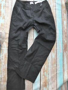 Sheego-Jeans-Leinen-Hose-Stoffhose-Groesse-40-42-schwarz-984-937-NEU