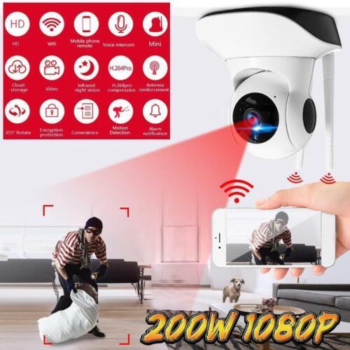 Wireless Security Camera Monitor WiFi 1080P Pan//Tilt IP Home Webcam Alexa  Super