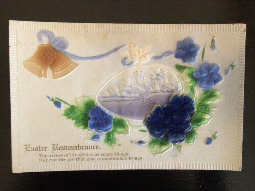 "Vintage greeting card postcard unused original ""Easter Remembrance"" Easter"