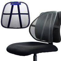 Mesh Back Lumbar Cushion Support Fit Car Seats Office Home Chairs Portable AD-24