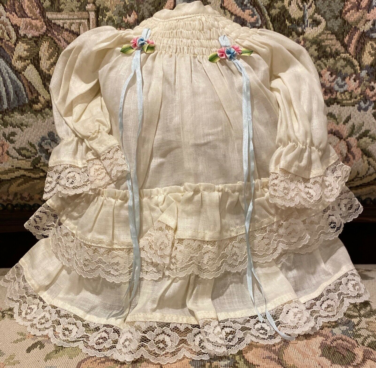 Gorgeous Frenchy Cotton Outfit For 16-17  French or German Bisque Doll