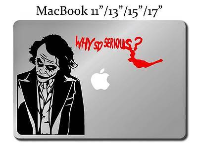 Joker WHY SO SERIOUS Decal LAPTOP MACBOOK Mac Pro Air Sticker Batman M57