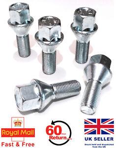 Pack De 20 Negro Rueda de la aleación Pernos Lugs NUTS Tapas Cubre Hexagonal de 17mm Para Vw bimecc