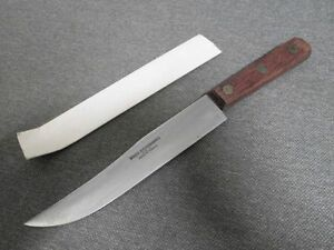 unused vintage french sabatier carbon steel chef 39 s yatagan style carving knife ebay. Black Bedroom Furniture Sets. Home Design Ideas