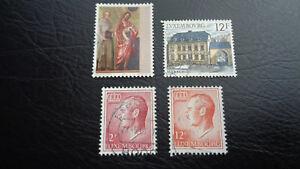 Lussemburgo, francobolli, 1987, mi-N.: 1181 + 1178 + altri due, timbrato