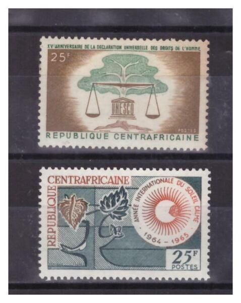 Centrafricaine N° 35 / 36 . 2 Valeurs Neuves ** .superbe. Promouvoir La Production De Fluide Corporel Et De Salive